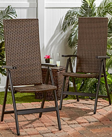 Hand Woven Pe Wicker Outdoor Reclining Chair