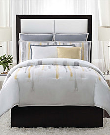 Vince Camuto Sorrento King 3 Piece Duvet Set in Aqua
