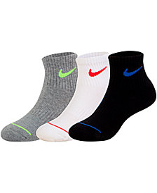 Nike Little Boys 3-Pk. Dri-FIT Quarter Socks