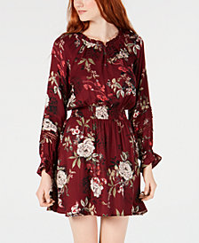 American Rag Juniors' Floral Print Peasant Dress, Created for Macy's