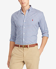 Polo Ralph Lauren Men's Classic Fit Plaid Twill Cotton Shirt