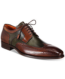 Mezlan Men's Tri-Tone Wingtip Oxfords