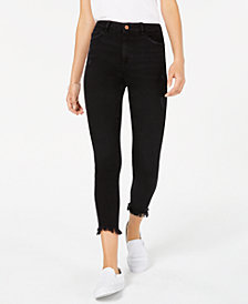 DL 1961 Farrow High Rise Raw Hem Cropped Skinny Jeans