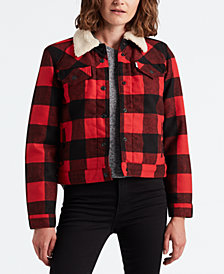 Levi's® Plaid Sherpa-Collar Jacket