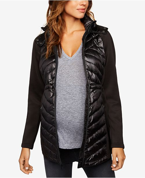 2d8ef873fbf4c A Pea in the Pod Maternity Quilted-Panel Jacket & Reviews ...