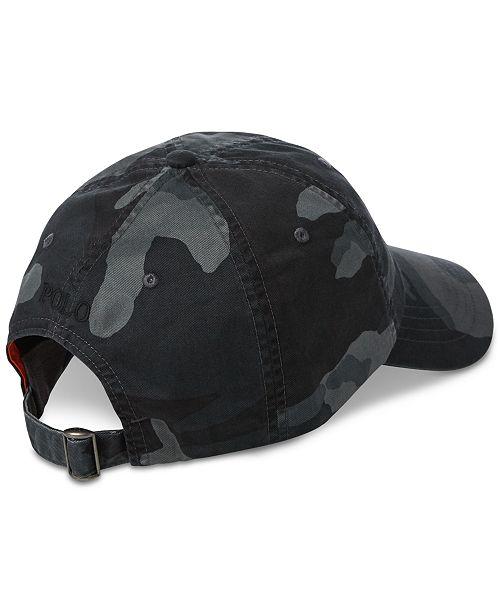 f9ff89ac2e671 Polo Ralph Lauren Men s Camouflage Baseball Cap   Reviews - Hats ...