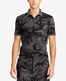 Men's Big & Tall Classic Fit Camouflage Mesh  Polo