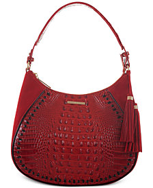 Brahmin Amira Lausanne Embossed Leather Hobo