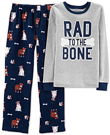 Carter's Little & Big Boys 2-Pc. Rad to the Bone Pajamas Set