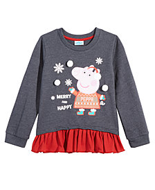 Peppa Pig Toddler Girls Contrast Hem Top