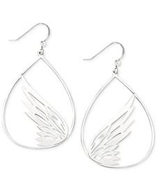Butterfly Teardrop Drop Earrings in Sterling Silver