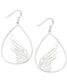 Simone I. Smith Butterfly Teardrop Drop Earrings in Sterling Silver