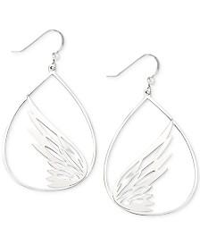 Simone I. Smith Butterfly Teardrop Drop Earrings in Sterling Silver