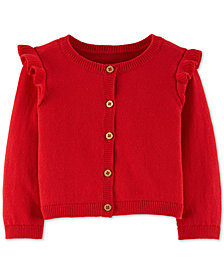 Carter's Baby Girls Ruffled Cotton Cardigan