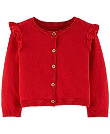 Carter's Baby Girls Ruffled Cotton Cardigan