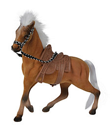 Simba Toys Champion Beauty Horse with Saddles, Brown with White Mane and Tail