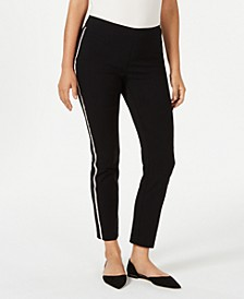 Petite Side-Striped Tummy-Control Pants, Created for Macy's