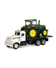 - Ertl John Deere Dealer Truck With 7R Tractor