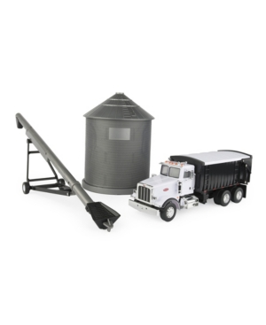 Tomy - 1:32 Big Farm Harvesting Set With Peterbilt Model 367 Straight Truck