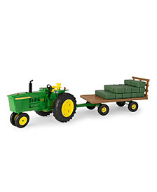Big Farm 1-16 John Deere 4020 Tractor With Hay Wagon And Bales