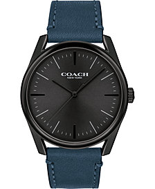 COACH Men's Preston Blue Leather Strap Watch 41mm