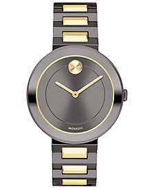 Movado Women's Swiss BOLD Two-Tone Stainless Steel Bracelet Watch 34mm