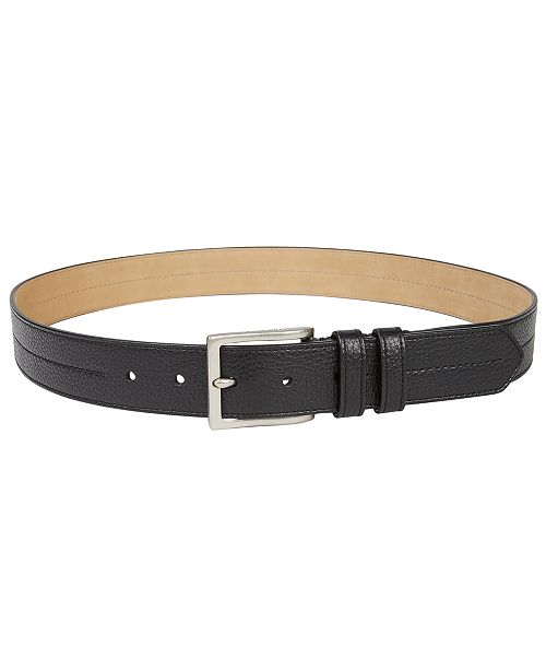53e2e2a5a54 Cole Haan Men s Pebble-Leather Belt - All Accessories - Men - Macy s