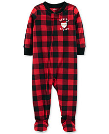 Carter's Baby Boys Buffalo-Check Footed Fleece Pajamas