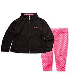 Nike Baby Girls 2-Pc. Peplum Jacket & Dot-Print Leggings Set