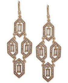 Ivanka Trump Gold-Tone Stone & Crystal Chandelier Earrings
