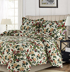 Madrid Printed Tropical Garden Oversized Queen Duvet Cover Set