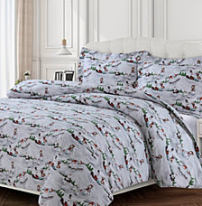 Winter Wonderland Cotton Flannel Printed Oversized Duvet Sets