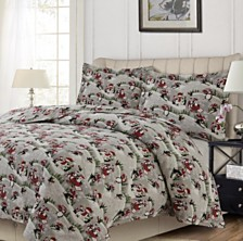 Iceland Printed Heavyweight Flannel Oversized Queen Duvet Set