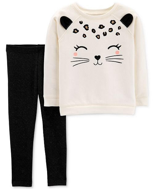 3f3238c91a4e2 Carter's Baby Girls Cat Top & Leggings Set - Sets & Outfits - Kids ...
