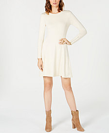 MICHAEL Michael Kors Petite Zip-Sleeve Sweater Dress