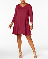 266f9c73c Style & Co Plus Size V-Neck A-Line Swing Dress, Created for. Quickview. 2  colors
