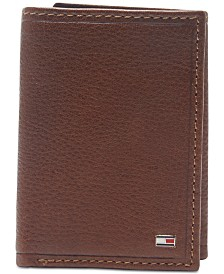 Tommy Hilfiger Men's Shelton Tri-Fold Leather Wallet