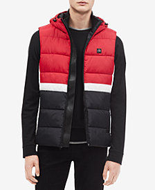 Calvin Klein Men's Colorblocked Hooded Puffer Vest