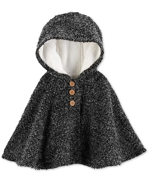 Carter s Baby Girls Hooded Poncho   Reviews - Coats   Jackets - Kids ... 94d530672