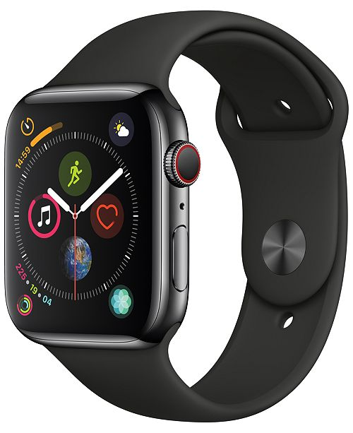 Apple Watch Series 4 AppleWatch Series4 GPS+Cellular, 40mm Space Black Stainless Steel Case with Black Sport Band