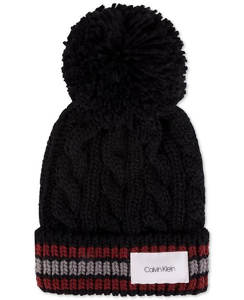 c72c56e3ecf Calvin Klein Men s Pom Pom Cuffed Hat   Reviews - Hats