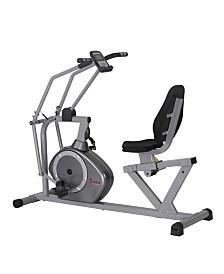 Sunny Health & Fitness Recumbent Bike with Arm Exerciser