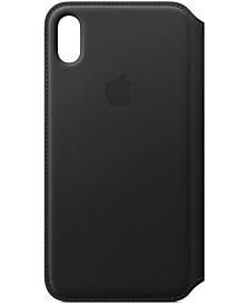 Apple iPhone XS Max Leather Folio Case