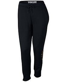 Nike Plus Size Sportswear Rally Metallic-Logo Pants