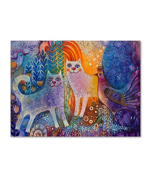 "Trademark Global Oxana Ziaka 'Cats in the Galaxy' Canvas Art - 19"" x 14"" x 2"""
