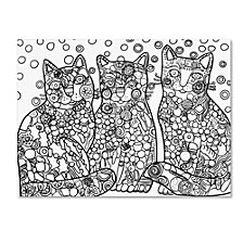 Oxana Ziaka 'Candy Cats 2' Canvas Art Collection