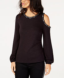 I.N.C. Embellished One-Shoulder Top, Created for Macy's
