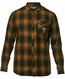 Fox Men's Voyd Yarn-Dyed Plaid Brushed Twill Flannel Shirt