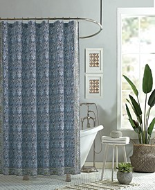 Talca Lined Cotton Shower Curtain