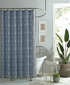 Jessica Simpson Talca Lined Cotton Shower Curtain